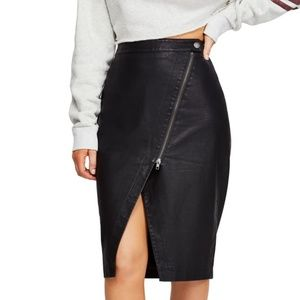 Free People's faux-leather skirt pencil